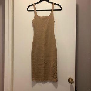 Zara Midi Tan Tank Dress